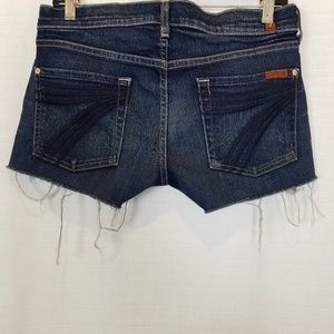 7FAM | Dojo Cut Off Shorts Blue Sevens 28